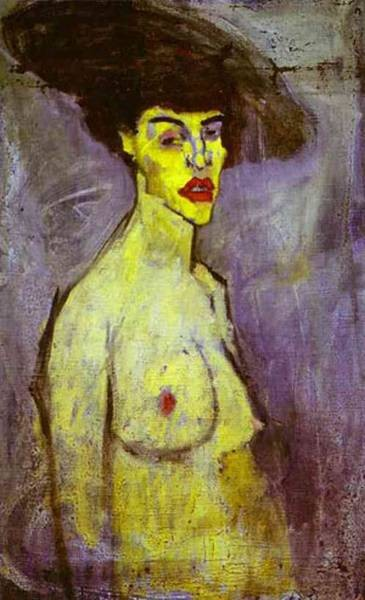 female nude with hat 1908 XX private collection